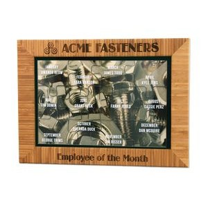 Acrylic Puzzle in Bamboo Frame Plaque 15
